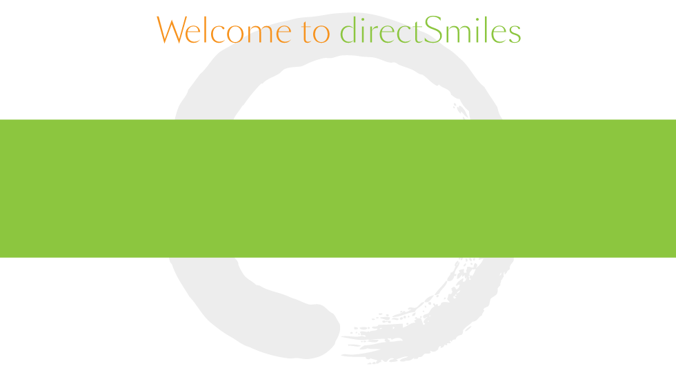 directSmiles Welcome Screen